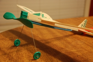 Did you fly a rubber-band-powered balsa wood airplane?