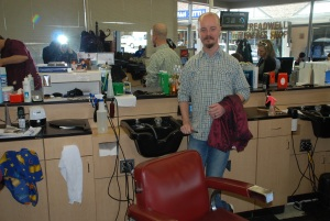 Matthew, my barber at Treadwell's