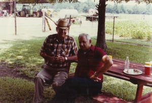 Uncles--two of the best. Uncle Simp was a real farmer.  Uncle Tom could rig anything to work. Hard to believe I took this picture thirty five years ago.